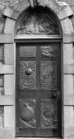 St.Francis Door BW.jpg