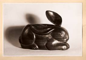 28 - Rabbit Salt Cellar 1950 (Pearwood).jpg