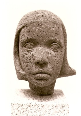 66 - Portrait Head of Daughter Aoibheann 1960 (Cast Stone).jpg