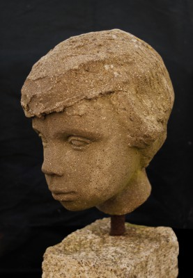 67 - Portrait Head of Daughter Aisling c. 1961 (Cast Stone).jpg